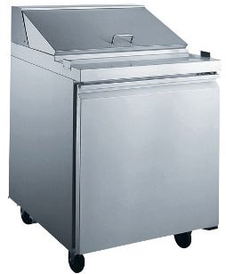 1-Door Sandwich & Salad Prep Table Refrigerated XSCL1-E