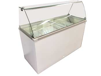 14.1 Cu. Ft. Curve Sneeze Rail Dipping Cabinet (DDC-61) (THG8DDC)